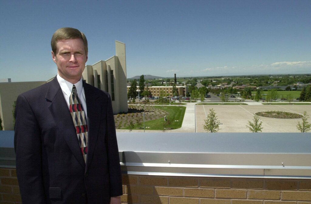 Then-college President David A. Bednar gives his opinions on the pending changes to Ricks College, June 22,2000.