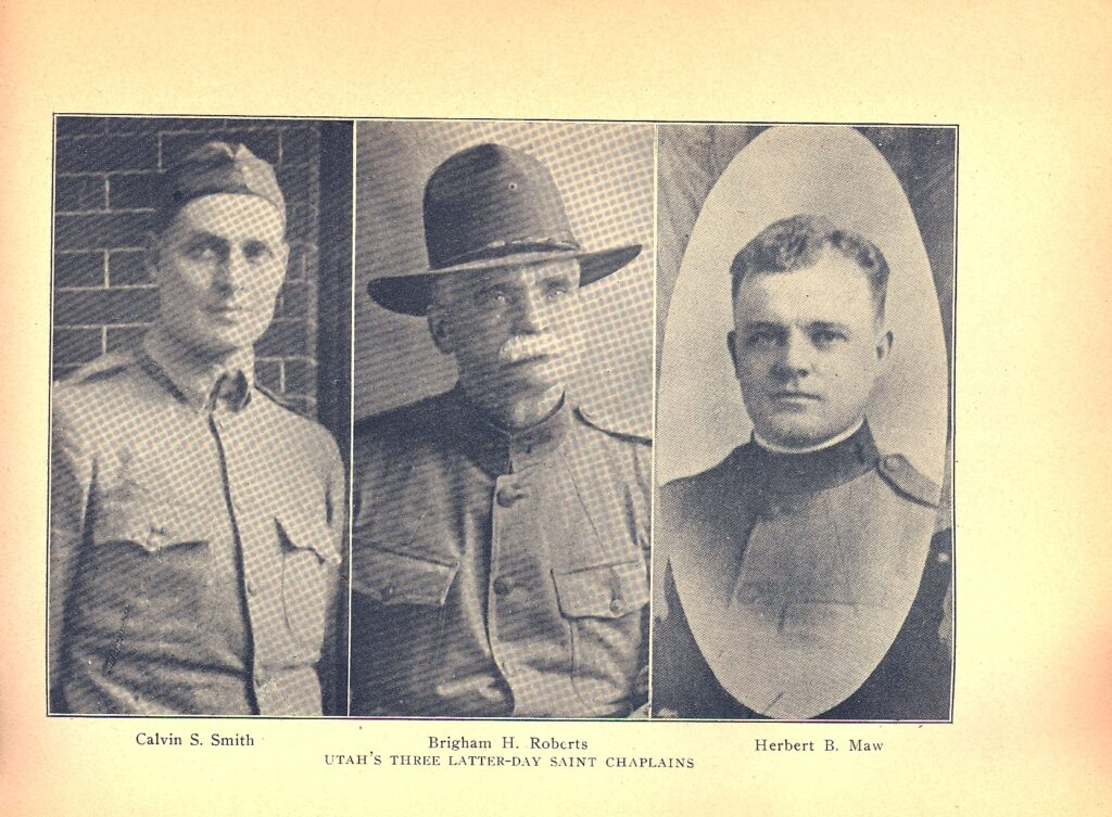 """The Church's three Army chaplains who served in World War I — Calvin S. Smith, Elder B.H. Roberts and Herbert Maw — were the subject of a 1919 article in the historic Church magazine """"The Juvenile Instructor."""""""