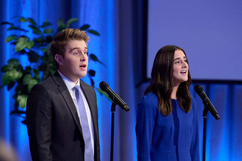 Musicians perform the opening song during a Face to Face event with Elder David A. Bednar of the Quorum of the Twelve Apostles on Sunday, Sept. 12, 2021.