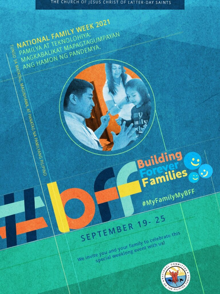 The poster for Church celebrations of National Family Week Sept. 19-25, 2021, in the Philippines.