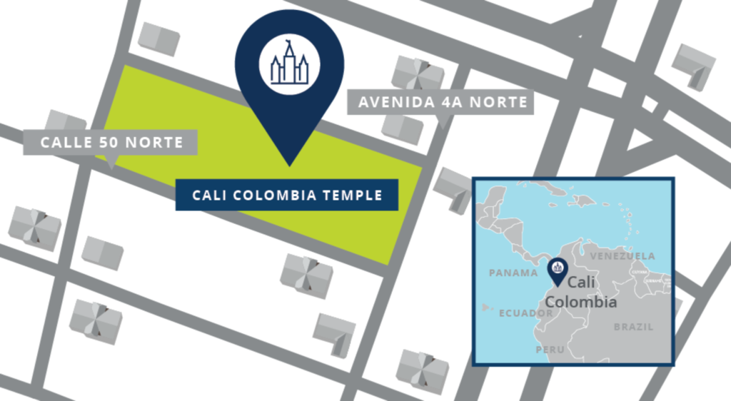 Site location of the Cali Colombia Temple.