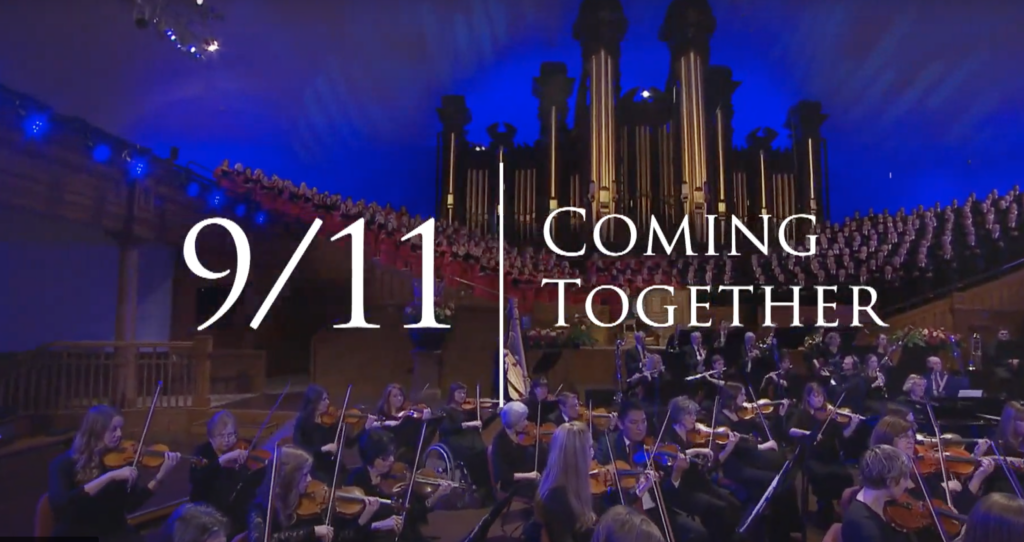 """The Tabernacle Choir and Orchestra at Temple Square presented """"9/11, Coming Together"""" on Sept. 11, 2021."""