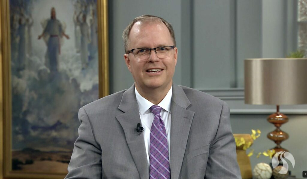 BYU-Pathway President Brian Ashton speaks during a devotional broadcast on Tuesday, Sept. 21, 2021.