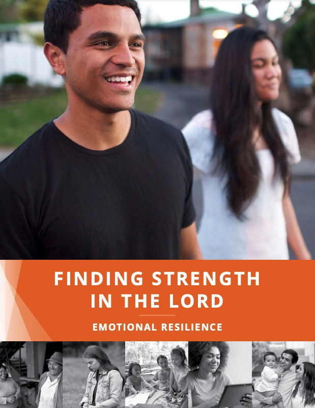 """Cover of the manual """"Finding Strength in the Lord: Emotional Resilience."""""""