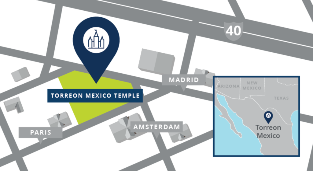 Site location for the Torreón Mexico Temple.