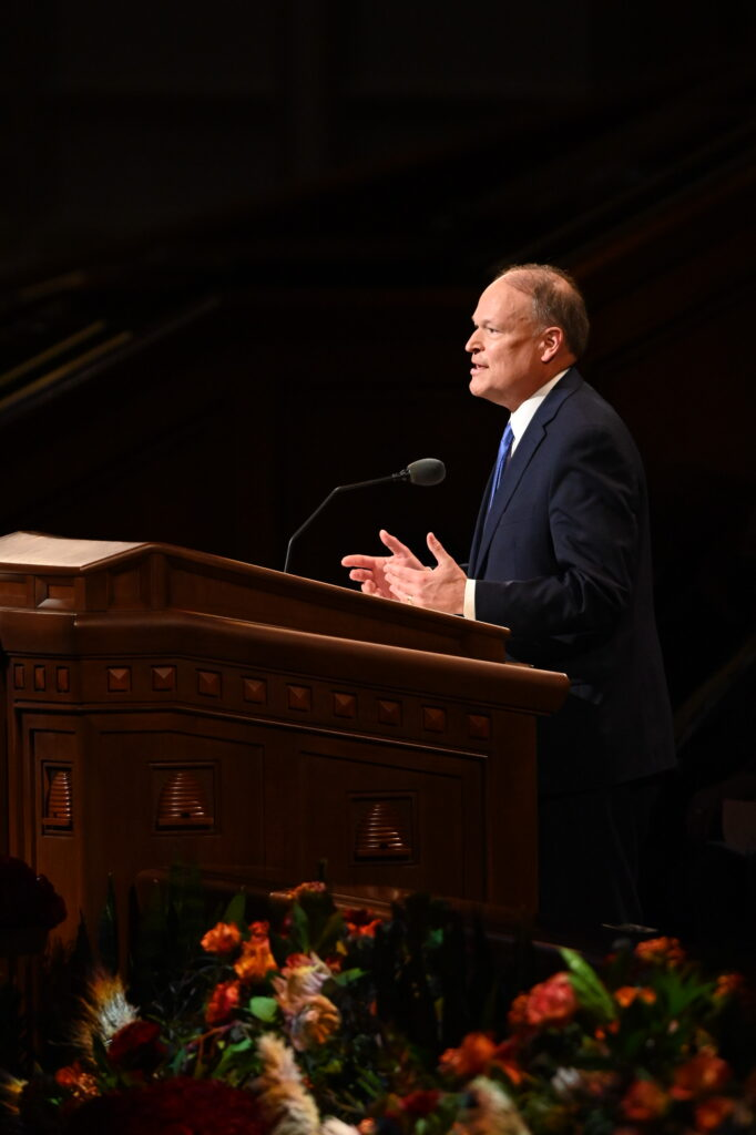 Elder Marcus B. Nash, a General Authority Seventy, speaks Saturday evening, Oct. 2, 2021, during the 191st Semiannual General Conference of The Church of Jesus Christ of Latter-day Saints held in the Conference Center in Salt Lake City.
