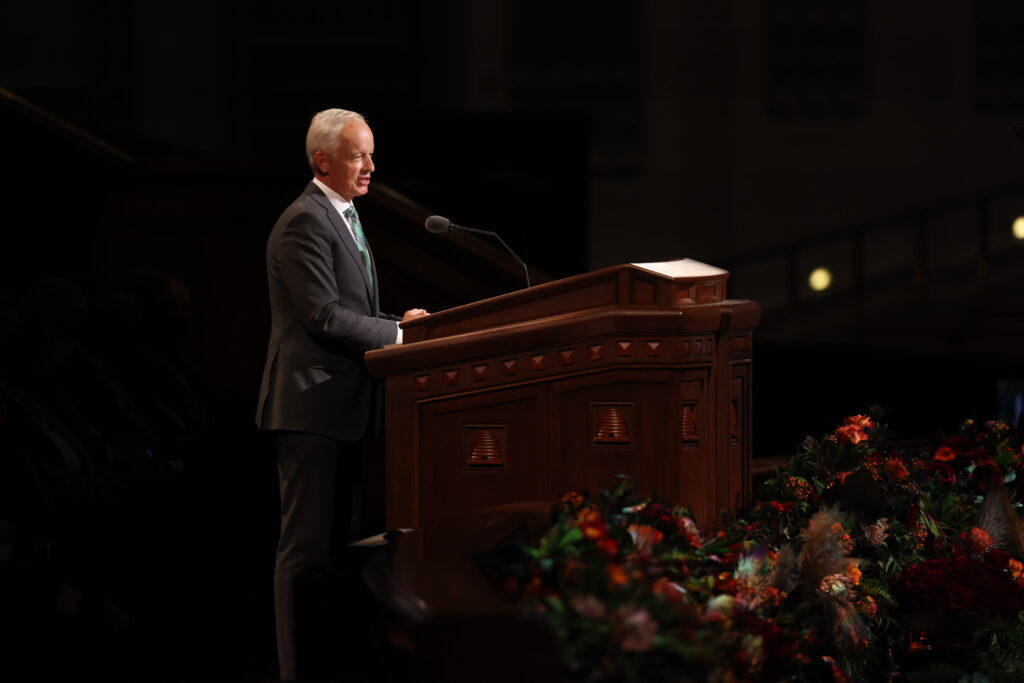 Elder Michal A. Dunn, a General Authority Seventy, speaks Oct. 3, 2021, during the Sunday afternoon session of The Church of Jesus Christ of Latter-day Saints' 191st Semiannual General Conference in the Conference Center in Salt Lake City.