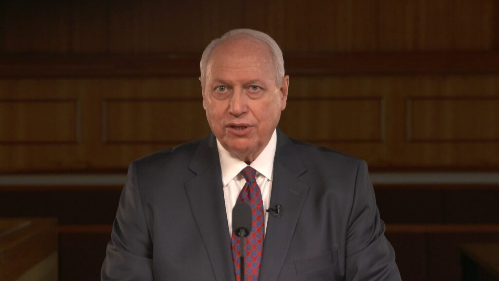 Elder Christoffel Golden, a General Authority Seventy, speaks during the Saturday afternoon session of the 191st Semiannual General Conference of The Church of Jesus Christ of Latter-day Saints, broadcast from the Conference Center in Salt Lake City on Oct. 2, 2021.