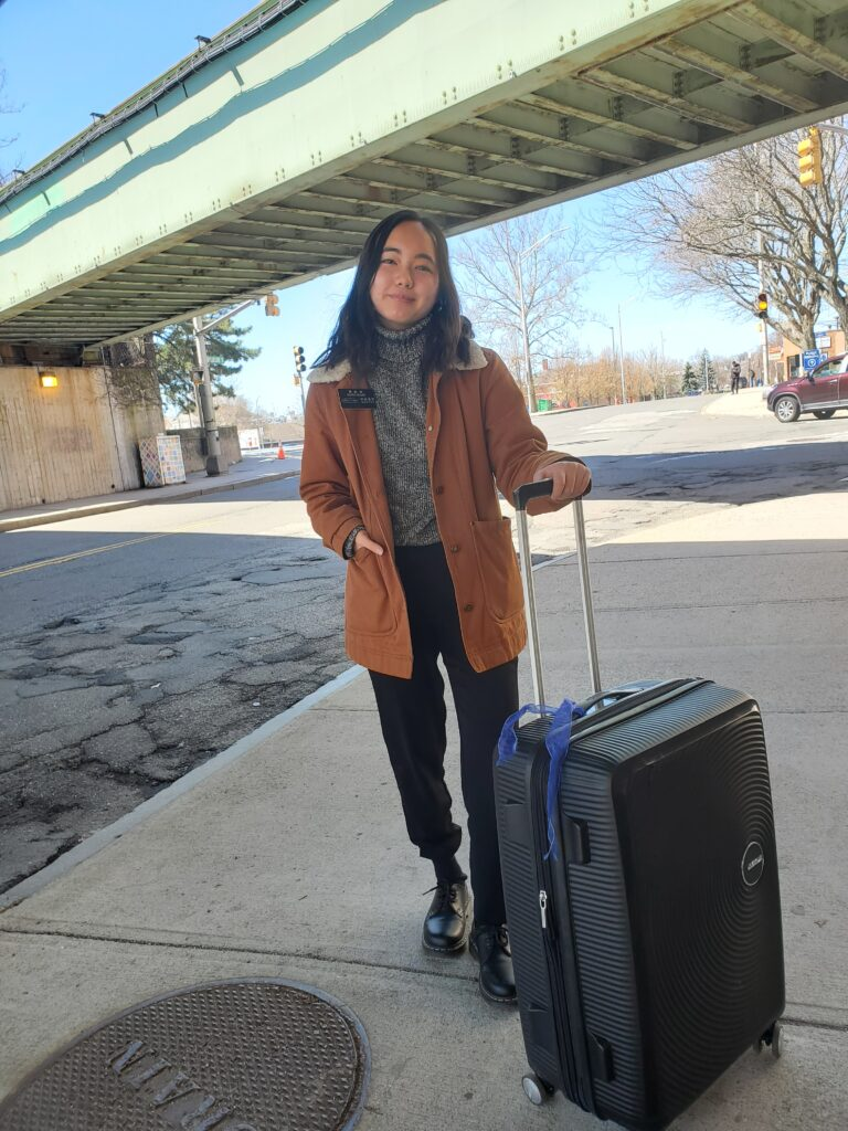 Seeing Sister Linda Hsiung of the China Hong Kong Mission with suitcase close at hand was a common sight — her full-time missionary locations included training in Provo, being temporarily assigned in Denver, serving in Hong Kong, returning home to California and then being reassigned to Boston. The photo is one she included as a submission to the Church History Department's project of documenting missionary experiences during the 2020 COVID-19 pandemic, which drew 7,000 online entries from missionaries and mission leaders worldwide.