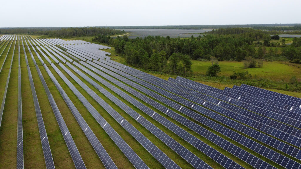 Solar fields operate on Deseret Ranches land in St. Cloud, Florida, on Monday, Aug. 23, 2021.