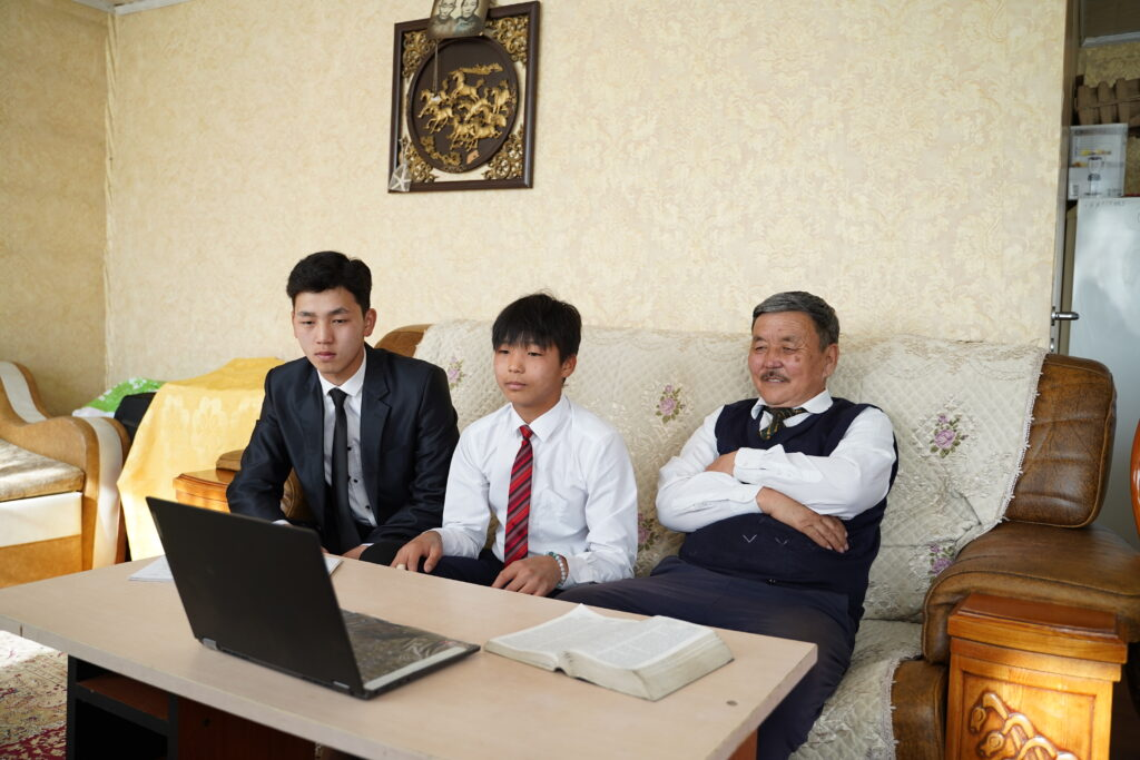 A family in Ulaanbaatar, Mongolia, participates in a session of The Church of Jesus Christ of Latter-day Saints' 191st Annual General Conference, broadcast on Saturday, April 3, and Sunday, April 4, 2021.
