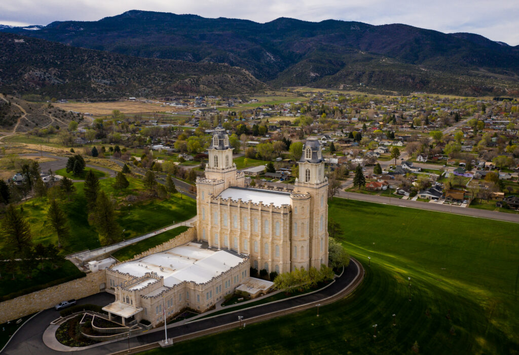 The Manti Utah Temple of The Church of Jesus-Christ of Latter-day Saints is pictured in Manti on Saturday, May 1, 2021.