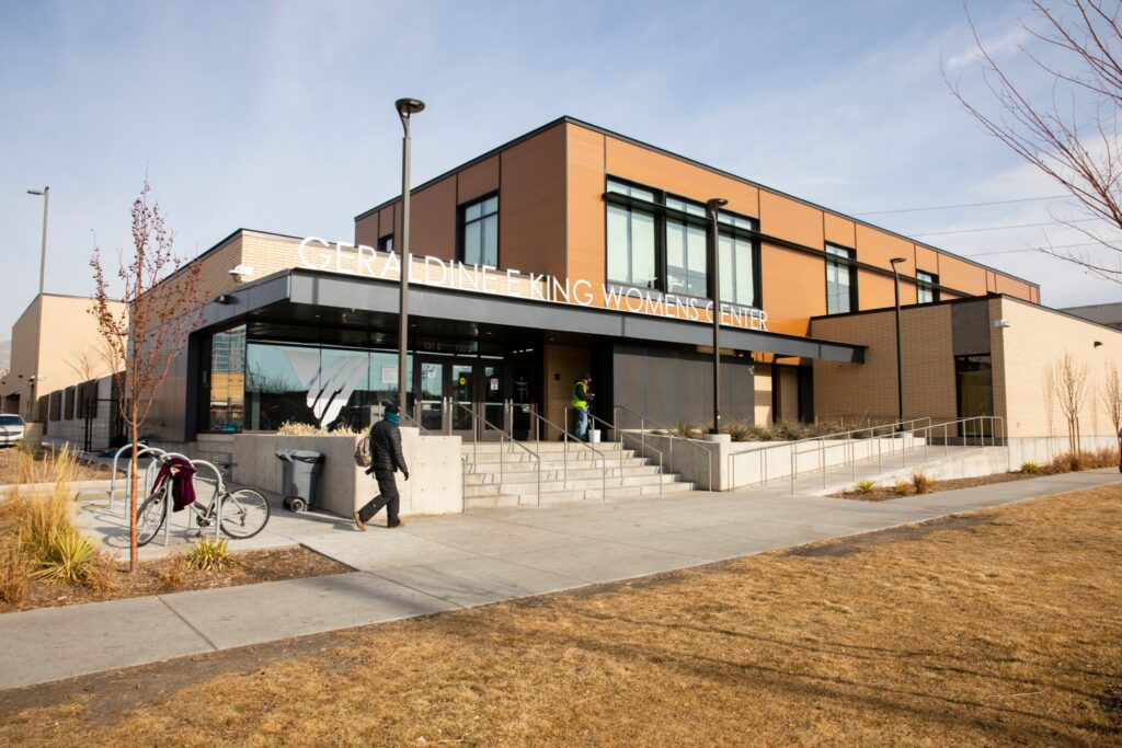 The 200-bed Geraldine E. King Women's Resource Center is located at 131 East 700 South in Salt Lake City, Utah. This image was taken on Tuesday, January 12, 2021.