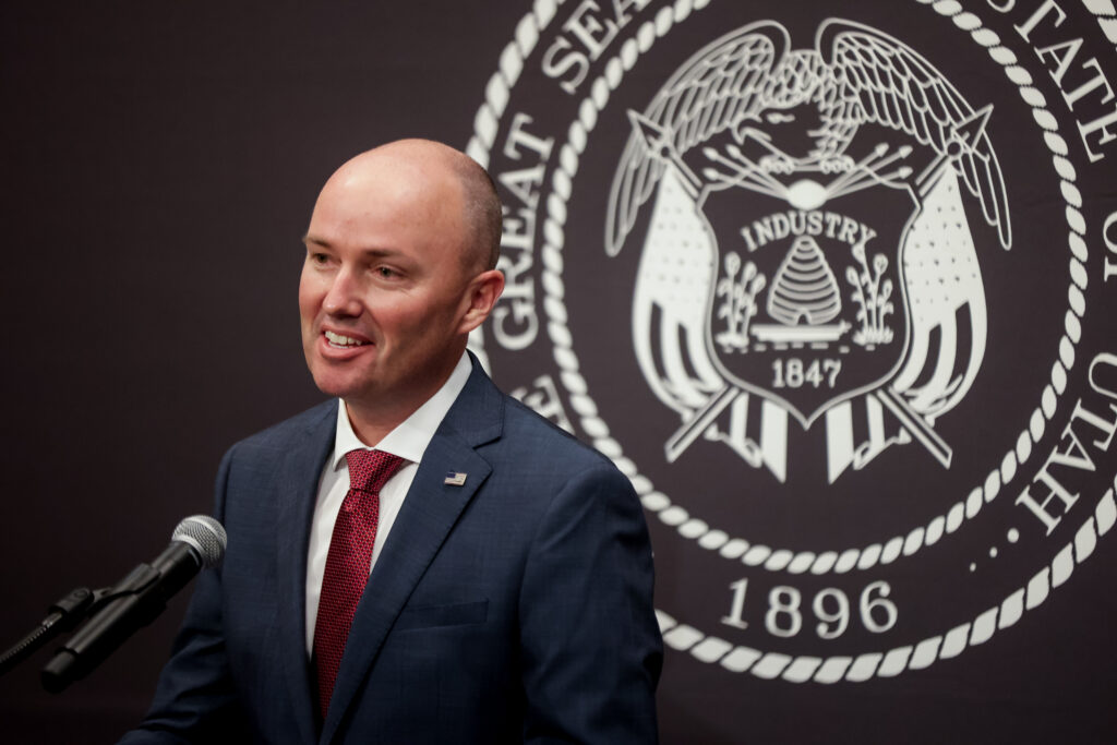 Gov.-elect Spencer Cox speaks during a briefing on COVID-19 at the Capitol in Salt Lake City on Thursday, Dec. 10, 2020.