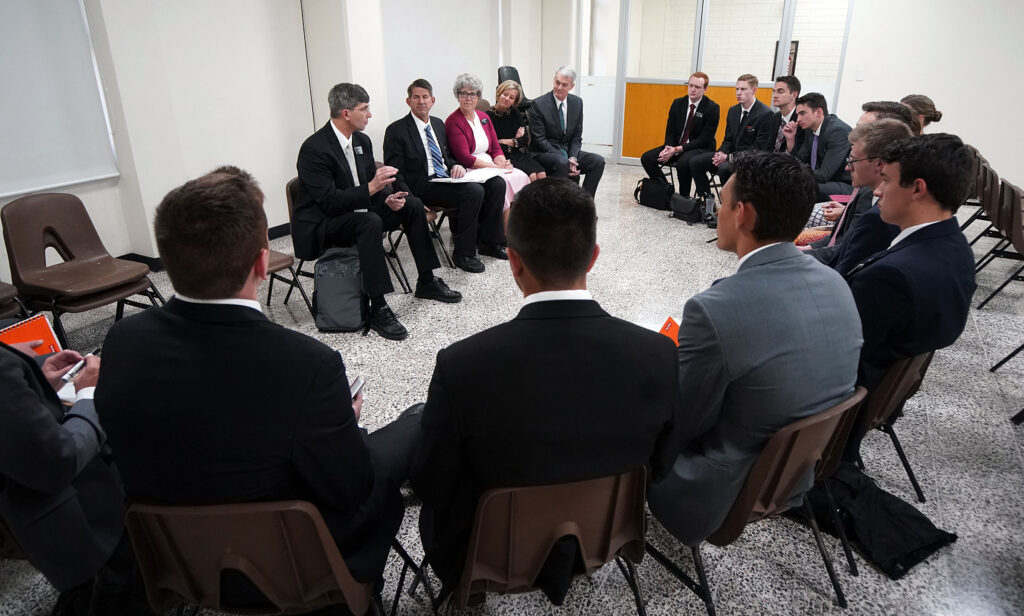 A branch leadership council meets at the Mexico Missionary Training Center of The Church of Jesus Christ of Latter-day Saints on Sunday, Jan. 26, 2020.