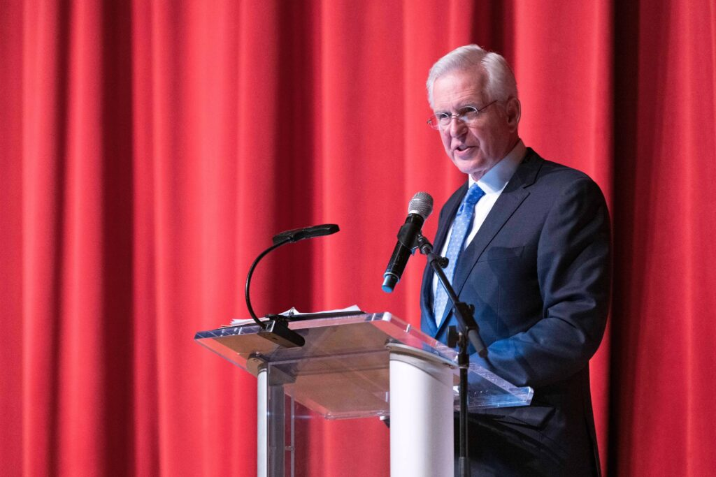 Elder D. Todd Christofferson of the Quorum of the Twelve Apostles announced that 600 tons of food will be delivered to 200 pantries across New York state to celebrate the 200th anniversary of the Prophet Joseph Smith's First Vision, which occurred in Palmyra, New York. The announcement came on Feb. 27, 2020, during the Latter-day Saint Professional Association's annual fundraising banquet in Manhattan.