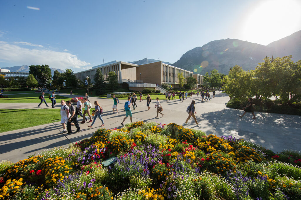 The first day of class for the 2015 fall semester at Brigham Young University. Business Insider had named Brigham Young University as the No. 1 safest college campus.