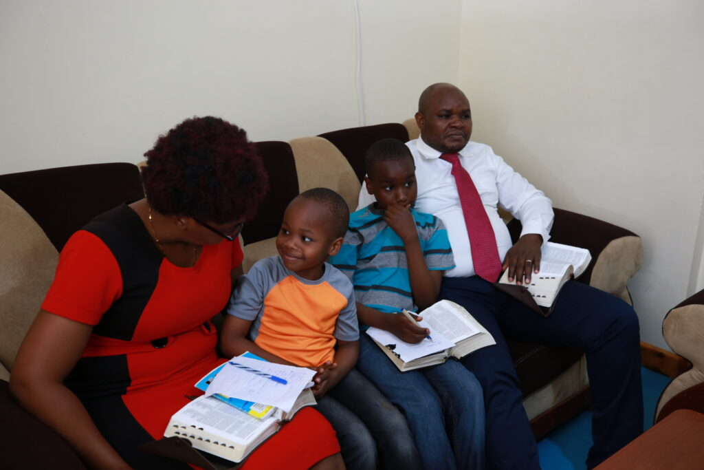 A family in Kenya participates in the 190th Semiannual General Conference of The Church of Jesus Christ of Latter-day Saints held Saturday and Sunday, Oct. 3 and 4, 2020.