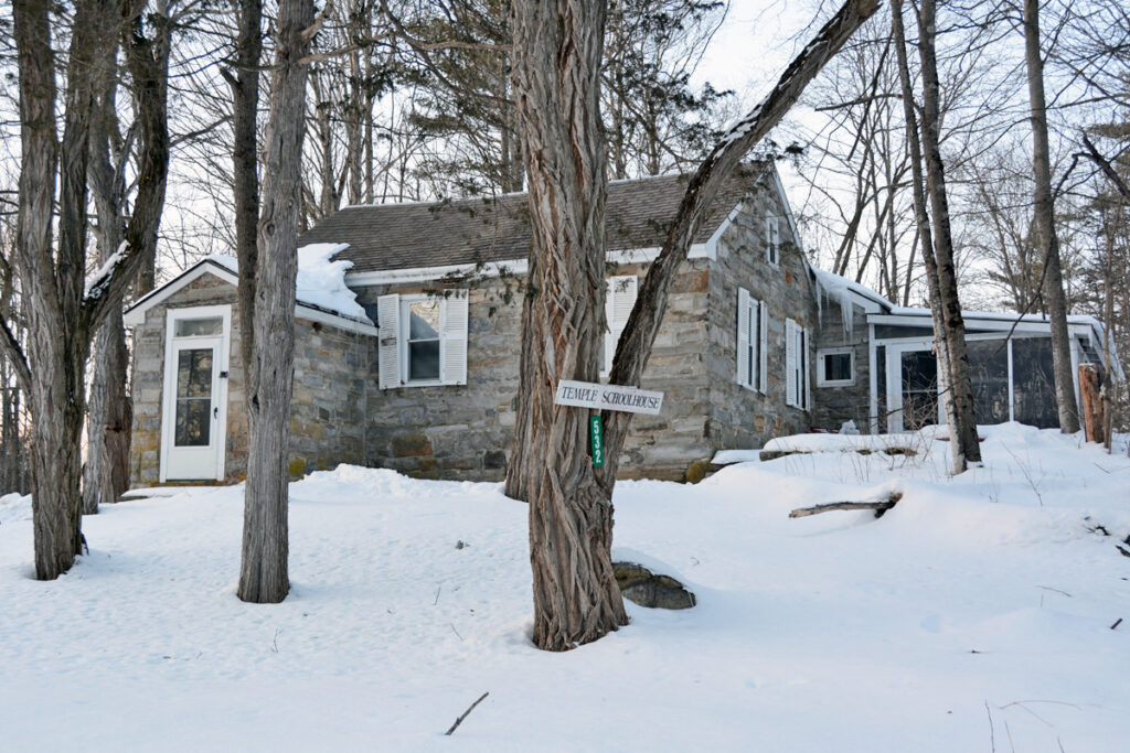 This private residence dates back to an old stone structure that served as a church and a schoolhouse in Benson, Vermont, where members of The Church of Jesus Christ of Latter-day Saints would meet.