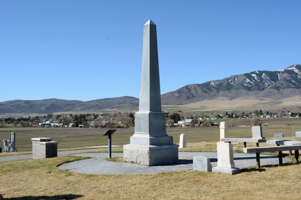 A monument marks the grave of Martin Harris in Clarkston, Utah, and is shown here in 2015. Martin Harris was one of the Three Witnesses of the Book of Mormon. (See Doctrine and Covenants 17.)
