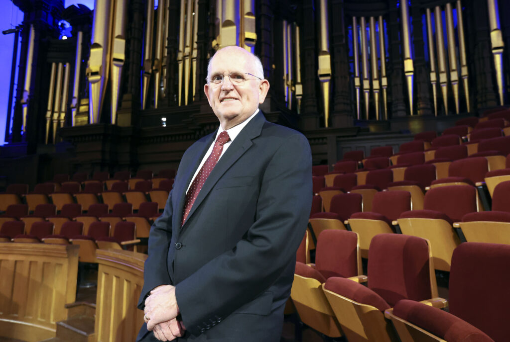 Mack Wilberg, music director of The Tabernacle Choir at Temple Square, poses for a portrait at the Tabernacle in Salt Lake City on Wednesday, Jan. 27, 2021.