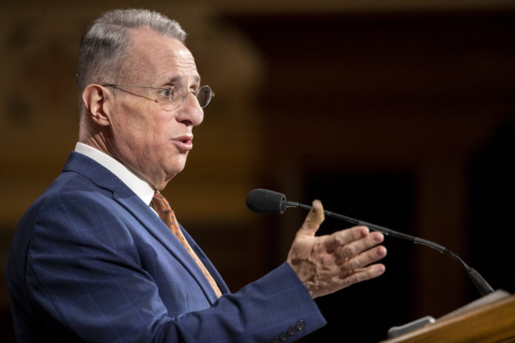Elder Ulisses Soares of the Quorum of the Twelve Apostles of The Church of Jesus Christ of Latter-day Saints, speaks to LDS Business College students during a devotional in the Assembly Hall on Temple Square in Salt Lake City on Tuesday, Jan. 28, 2020.