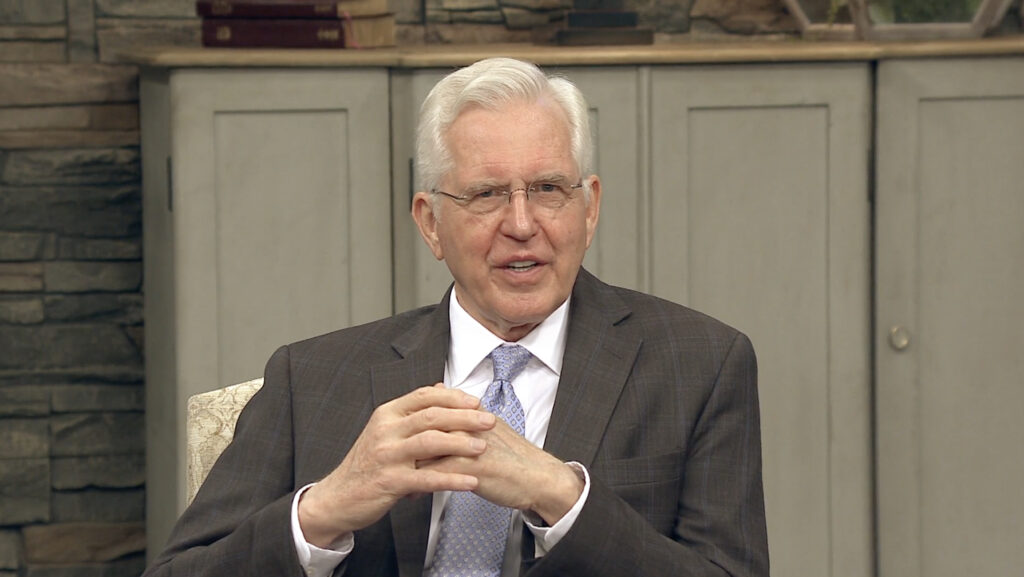 Elder D. Todd Christofferson of the Quorum of the Twelve Apostles of The Church of Jesus Christ of Latter-day Saints speaks during a worldwide missionary devotional, joined by his wife, Sister Kathy Christofferson at the event. Shared with full-time missionaries worldwide, the devotional was taped in Salt Lake City at Church headquarters and streamed on Nov. 26, 2020.