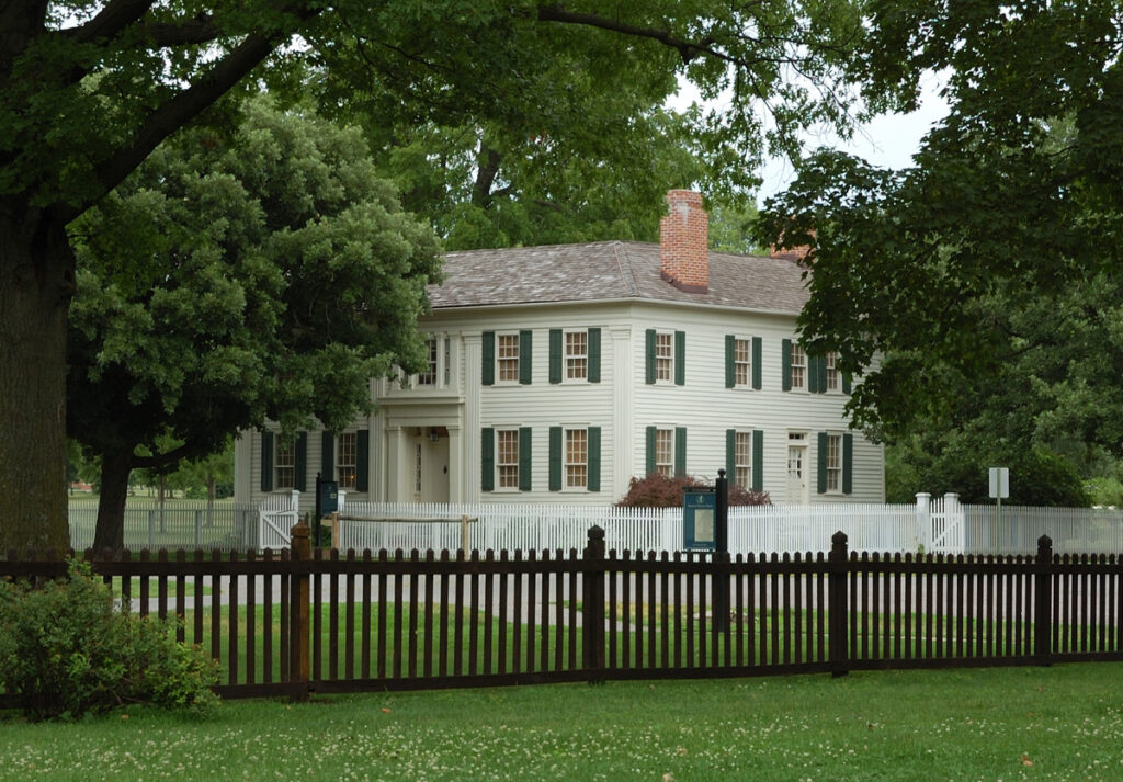 The Mansion House in Nauvoo, Illinois, where Joseph and Emma Smith lived. Aurelia Spencer Rogers' father lifted her to a window so that she could get in to see the bodies of the slain Prophet Joseph Smith and Patriarch Hymn Smith.Years later, as a wife and mother in Utah, Aurelia helped start an organization for children that became known as Primary.