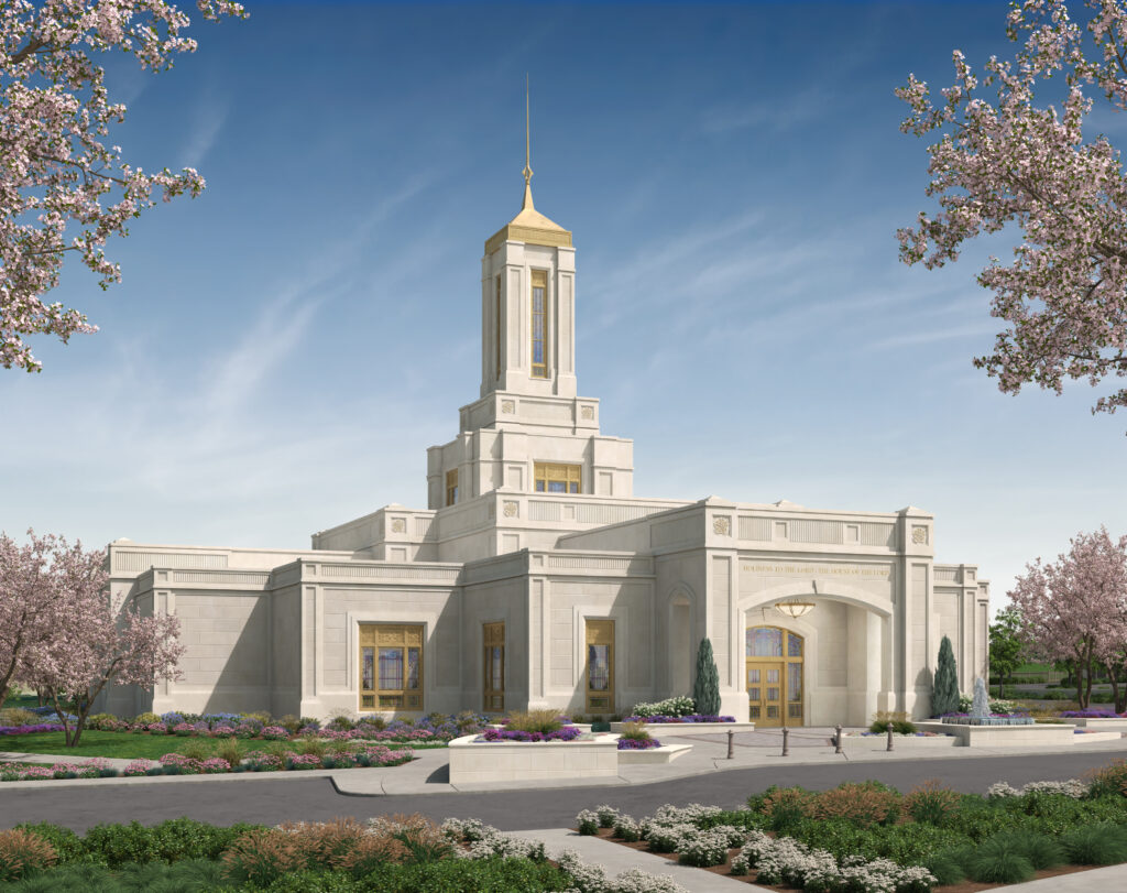 Exterior rendering of the Pittsburgh Pennsylvania Temple.