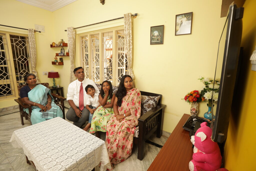 A family in India listens to the 190th Semiannual General Conference of The Church of Jesus Christ of Latter-day Saintsheld Saturday and Sunday, Oct. 3 and 4, 2020.