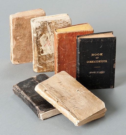 Six different versions of the book that became the Doctrine and Covenants.