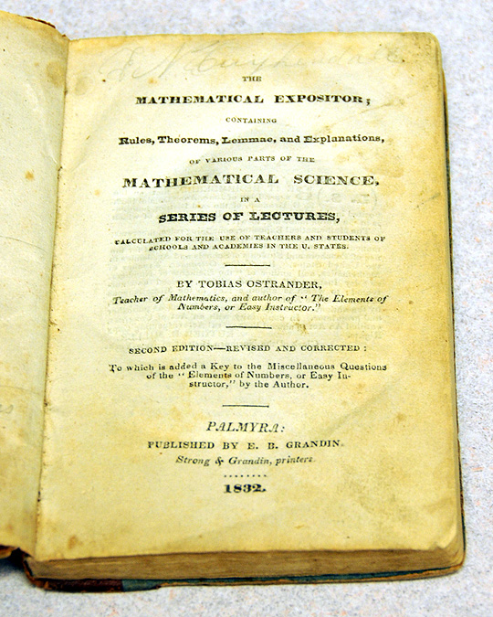An original copy of the only other book E.B. Grandin published. Grandin published the first edition of the Book of Mormon.