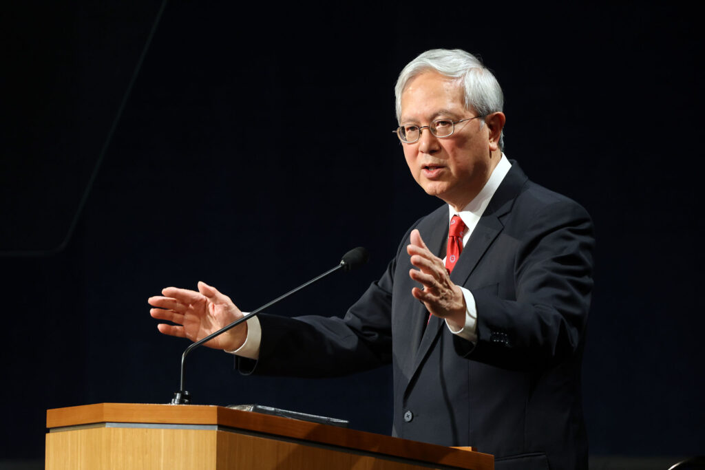 Elder Gerrit W. Gong, of the Quorum of the Twelve Apostles, speaks to missionaries for a devotional broadcast at the Provo Missionary Training Center in Provo, Utah, on Tuesday, Sept. 21, 2021.