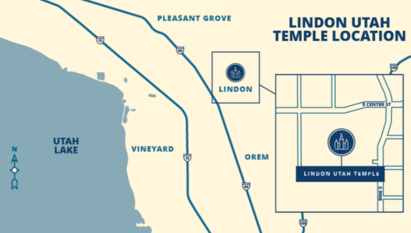The site for the Lindon Utah Temple, as announced on Monday, Dec. 21.