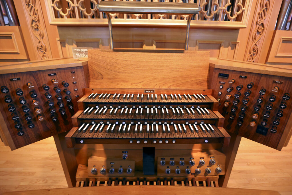 The organ in Assembly Hall is pictured in Salt Lake City on Wednesday, April 28, 2021.