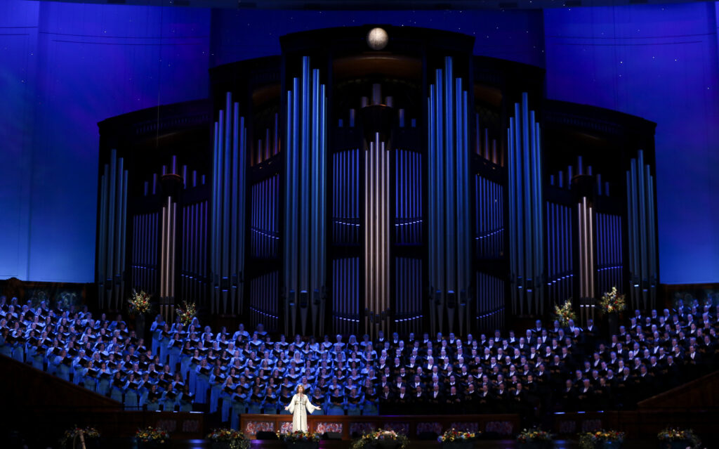 20190720 Special guest Sissel sings with the Tabernacle Choir and Orchestra at Temple Square during the Pioneer Day concert at the Conference Center in Salt Lake City on Friday, July 19, 2019.