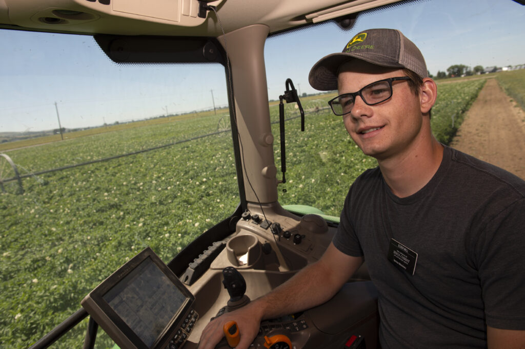 Elder Garrett Mill rototills some mixed crops during his shift Saturday, July 18, 2020, at Idaho Falls Crops, a welfare farm of The Church of Jesus Christ of Latter-day Saints south of Idaho Falls, Idaho.
