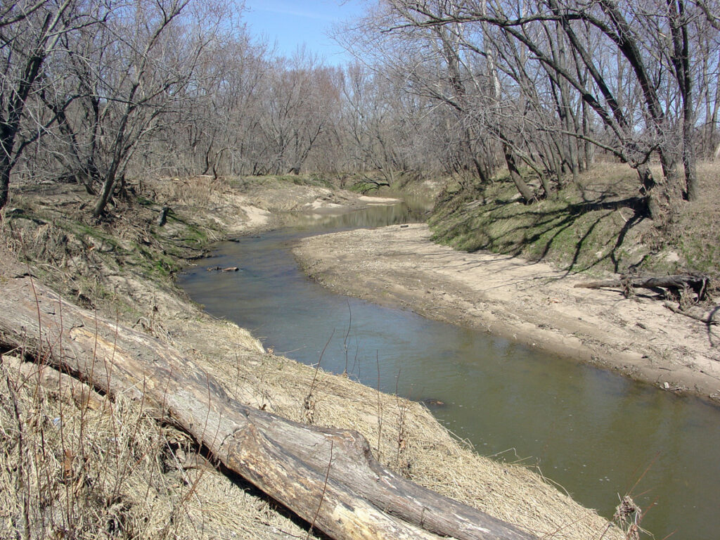 The Crooked River, Ray County, Missouri, near the site of the battle where James Hendricks was shot in the neck and paralyzed from the neck down. Mobs later broke into the Hendrickses' Missouri home looking to kill him and Drusilla told them they would have to kill her first. They later made their way to Nauvoo, Illinois, and later to the Salt Lake Valley.