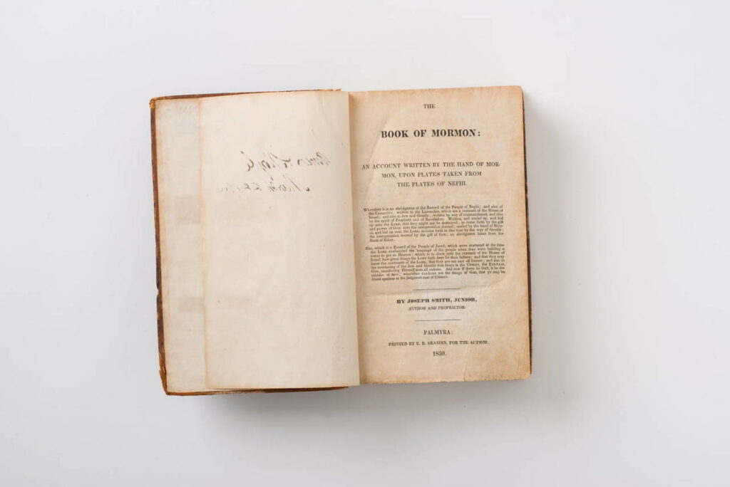 First edition of the Book of Mormon