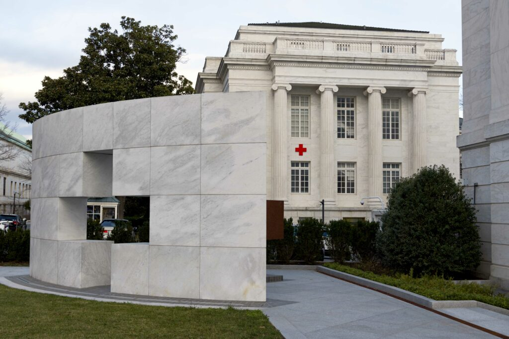 The American Red Cross Headquarters in Washington D.C. is pictured on March 4, 2020.