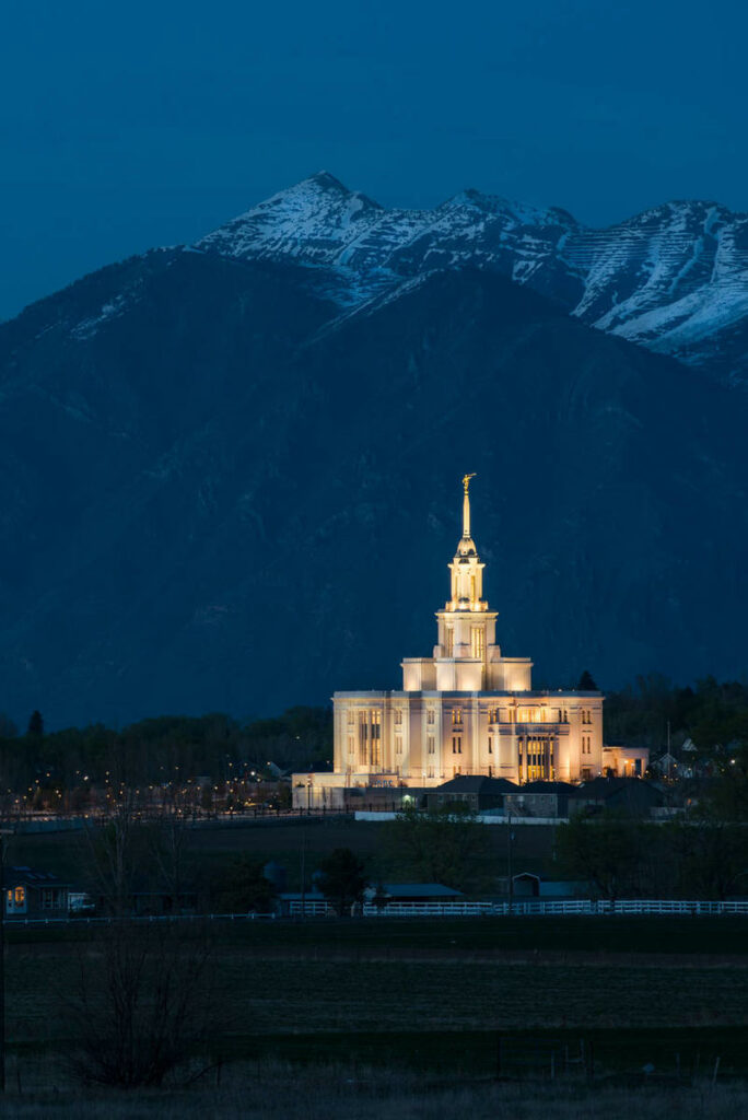 The Payson Utah Temple of The Church of Jesus Christ of Latter-day Saints.